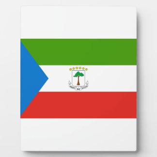 Placa Expositora ¡Bajo costo! Bandera de la Guinea Ecuatorial