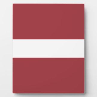 Placa Expositora ¡Bajo costo! Bandera de Letonia