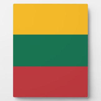 Placa Expositora ¡Bajo costo! Bandera de Lituania