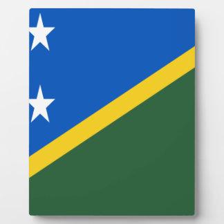 Placa Expositora ¡Bajo costo! Bandera de Solomon Island