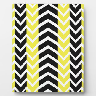 Placa Expositora Ballena amarilla y negra Chevron