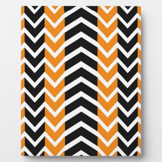 Placa Expositora Ballena anaranjada y negra Chevron
