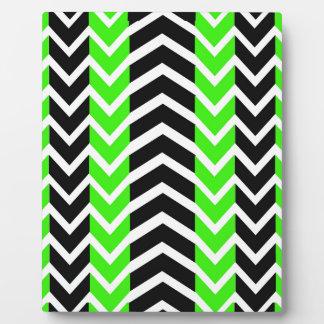 Placa Expositora Ballena verde y negra Chevron