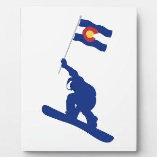 Placa Expositora Bandera de la snowboard de Colorado