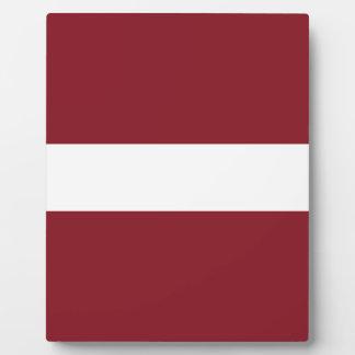 Placa Expositora Bandera de Letonia