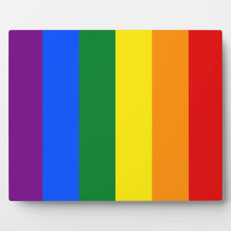 Placa Expositora Bandera del arco iris