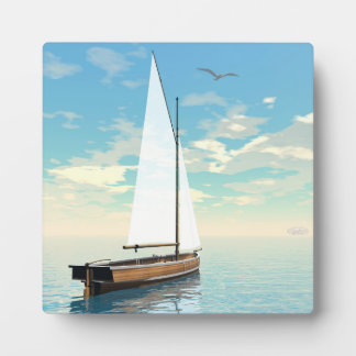Placa Expositora Barco de navegación - 3D rinden
