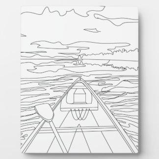 Placa Expositora Barco en el lago