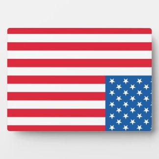 Placa Expositora Barras y estrellas de la bandera de los E.E.U.U.
