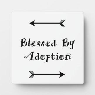 Placa Expositora Bendecido por la adopción - acogida