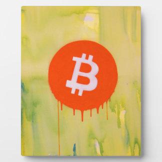 Placa Expositora Bitcoin