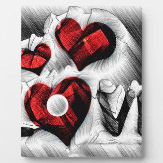Placa Expositora Bosquejo del amor