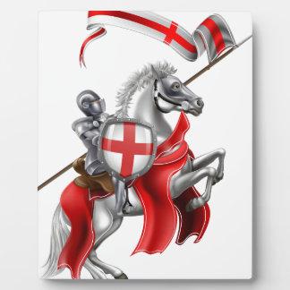 Placa Expositora Caballero medieval de San Jorge en caballo