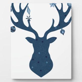Placa Expositora Cabeza de los ciervos de Boho del navidad