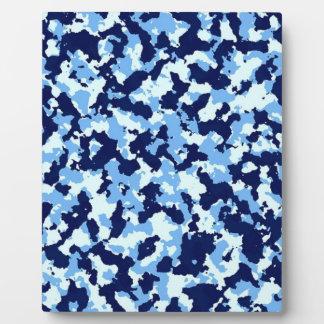 Placa Expositora Camuflaje azul