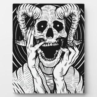 Placa Expositora cara del diablo