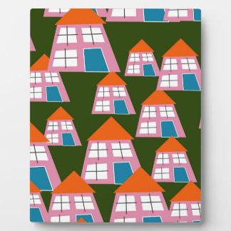 Placa Expositora Casas rosadas