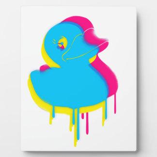Placa Expositora Caucho de goma del arte pop de la pintada del pato