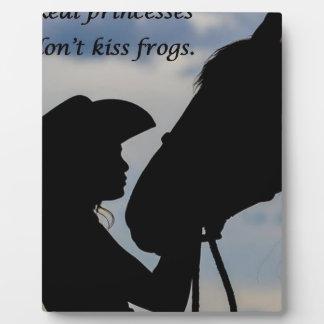 Placa Expositora Chica que besa el caballo
