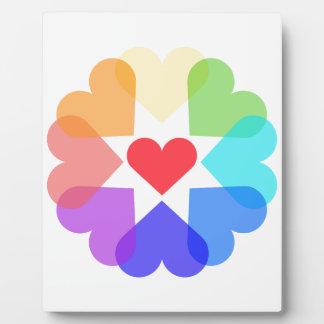 Placa Expositora Círculo del corazón