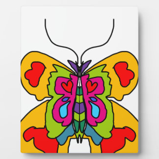 Placa Expositora claro y color de la mariposa