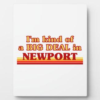 Placa Expositora Clase de I´m de una gran cosa en Newport