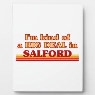 Placa Expositora Clase de I´m de una gran cosa en Salford