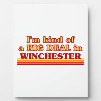 Placa Expositora Clase de I´m de una gran cosa en Winchester
