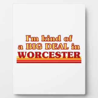 Placa Expositora Clase de I´m de una gran cosa en Worcester