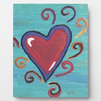 Placa Expositora Colección roja de los corazones