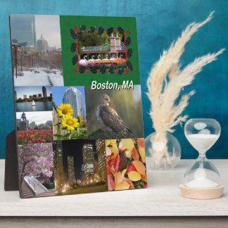 Placa Expositora Collage de la foto de Boston, Massachusetts