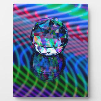 Placa Expositora Color de facetas en vidrio