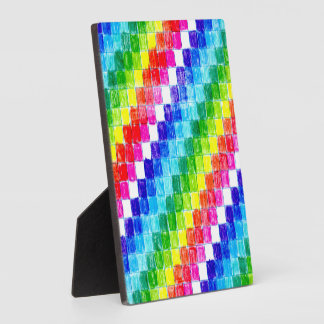 Placa Expositora Coloreado en cuadrados del papel cuadriculado