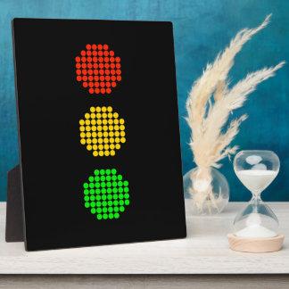Placa Expositora Colores de la luz de parada del punto