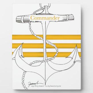 Placa Expositora comandante del oro, fernandes tony