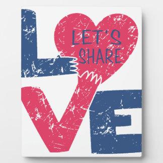 Placa Expositora compartamos el amor
