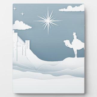 Placa Expositora Concepto del navidad de la natividad de los