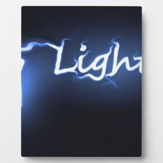 Placa Expositora Concepto ligero de la llama