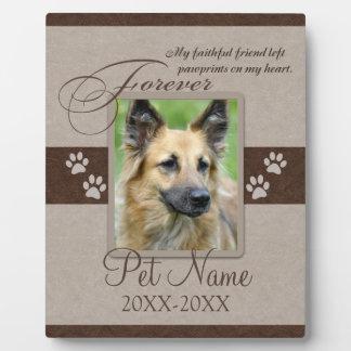 Placa Expositora Condolencia para siempre amada del mascota