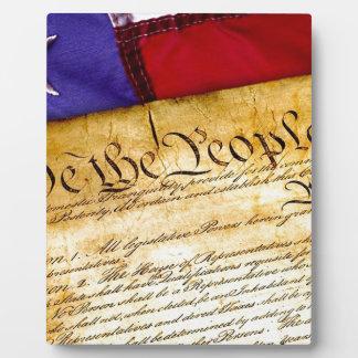 Placa Expositora Constitución 4ta julio de la independencia del 4