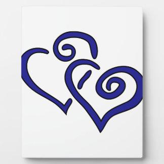 Placa Expositora Corazón doble de la marina de guerra