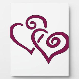 Placa Expositora Corazón doble marrón