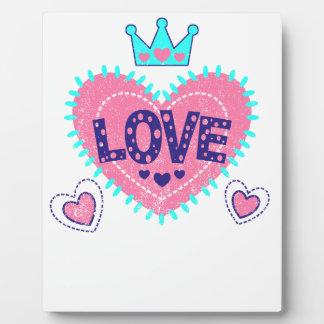 Placa Expositora Corona y corazones del amor