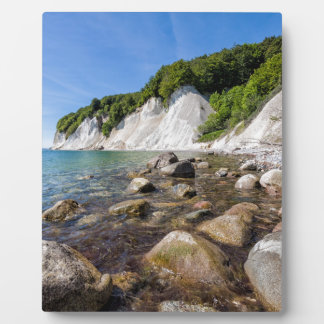 Placa Expositora Costa de mar Báltico en la isla Ruegen