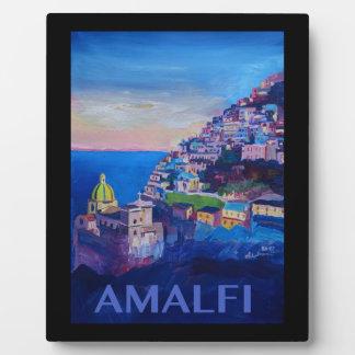 Placa Expositora Costa retra Italia de Amalfi del poster