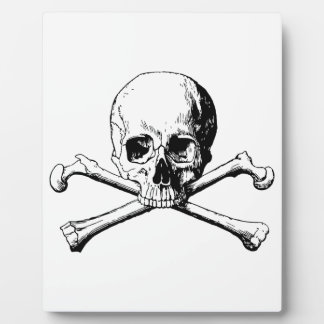 Placa Expositora Cráneo de la bandera pirata
