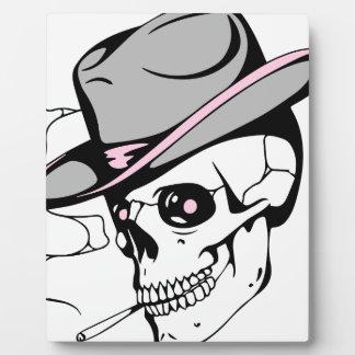 Placa Expositora cráneo rosado del ojo