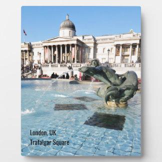 Placa Expositora Cuadrado de Trafalgar en Londres, Reino Unido
