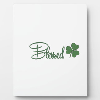 Placa Expositora ☘ del diseño del día de St Patrick bendecido