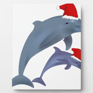 Placa Expositora Delfín del navidad